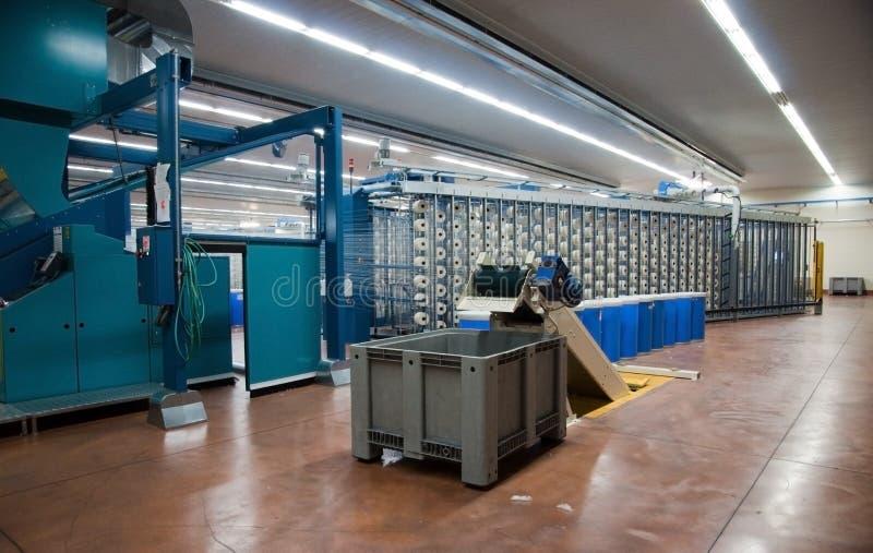 Industrie textile - tissant et se faussant photographie stock libre de droits