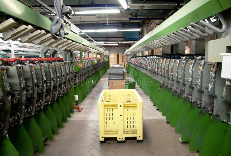 Industrie textile - tissant et se faussant images libres de droits