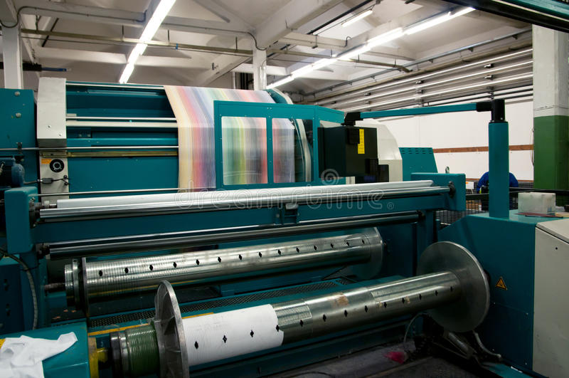 Industrie textile - tissant et se faussant photos libres de droits