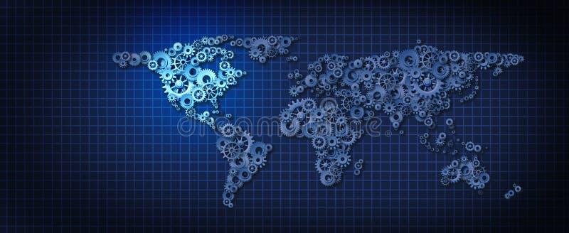 Industrie van Verenigde Staten Mexico Canada vector illustratie