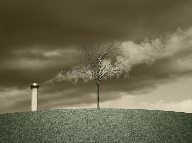 Industrieabgasebegriffshintergrund lizenzfreie stockfotografie