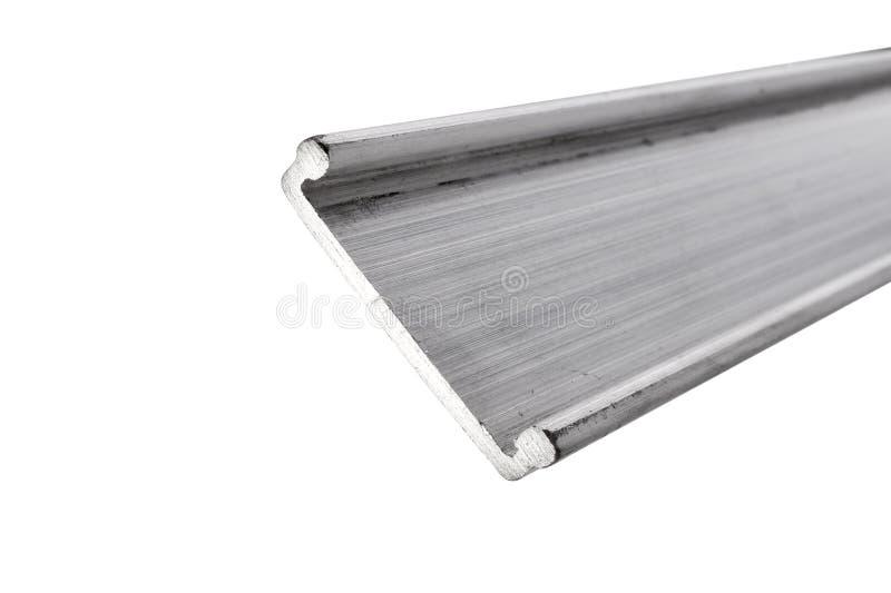Industrieel aluminiumprofiel royalty-vrije stock afbeelding