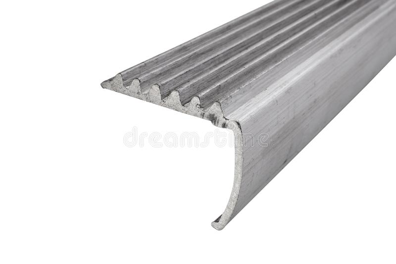 Industrieel aluminiumprofiel stock afbeelding