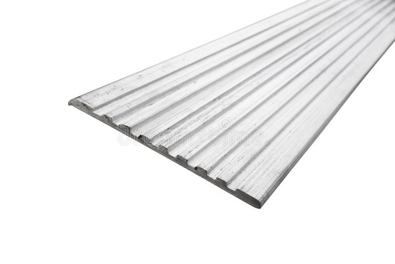 Industrieel aluminiumprofiel royalty-vrije stock foto's