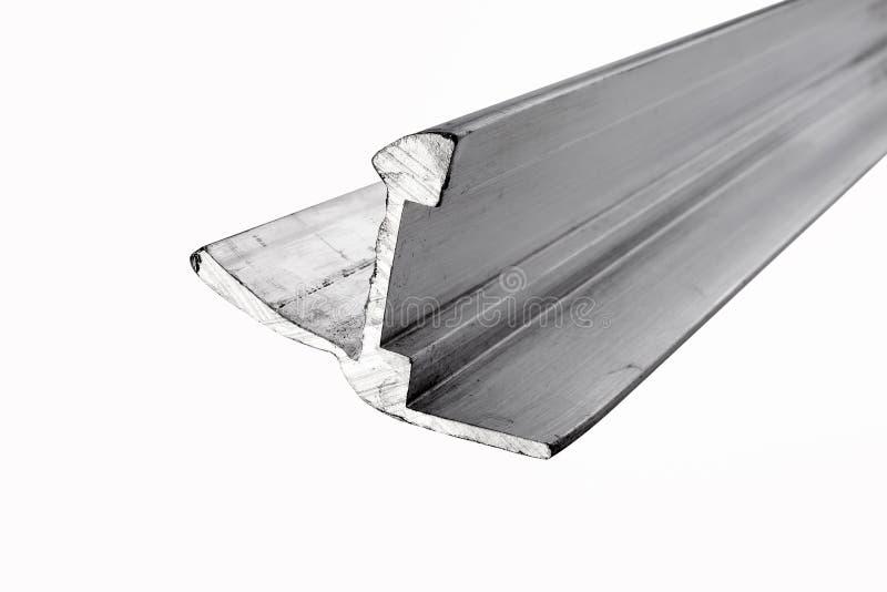 Industrieel aluminiumprofiel stock foto