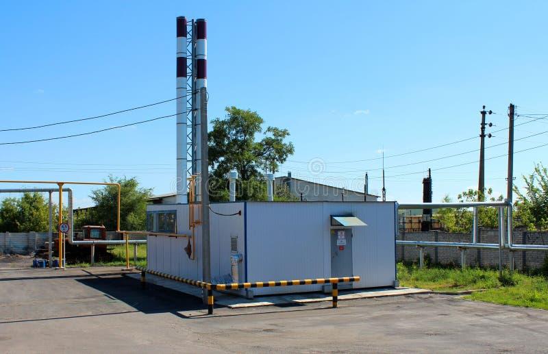 Industrieel boiler-huis stock afbeelding