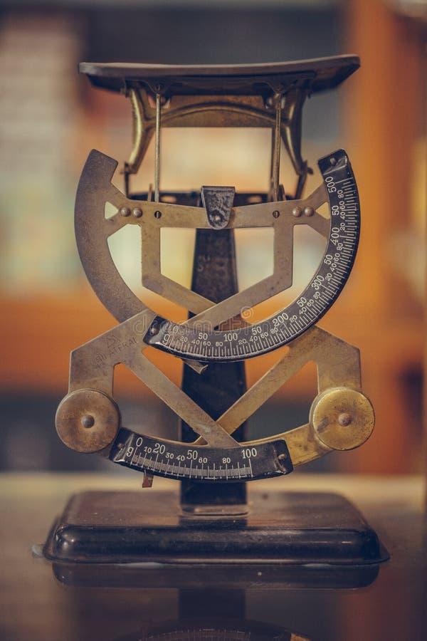 Industrieel de Metingshulpmiddel van de Halve cirkelschaal royalty-vrije stock fotografie