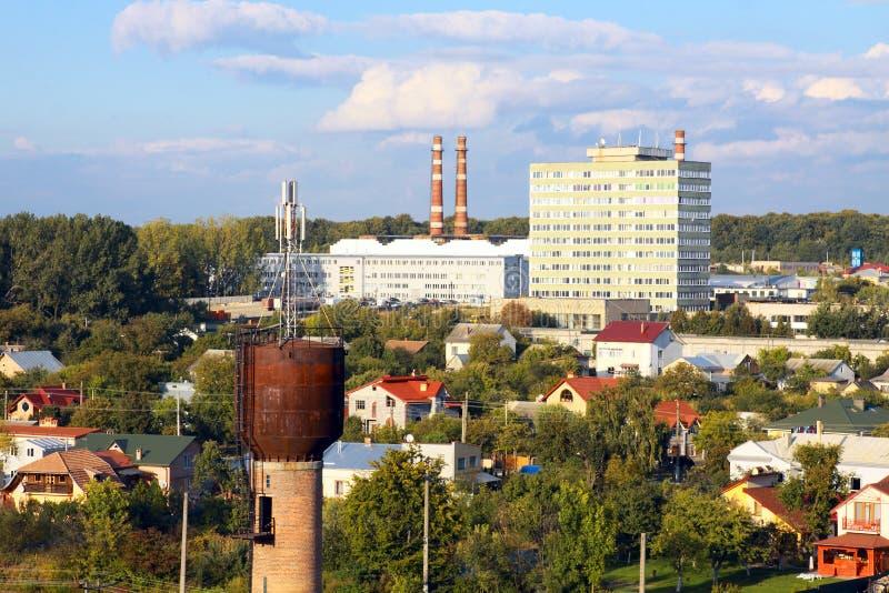Industrieel district in de stad royalty-vrije stock afbeeldingen