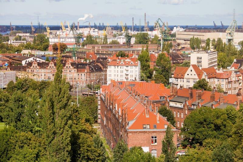 Industrieel District in Gdansk stock afbeelding