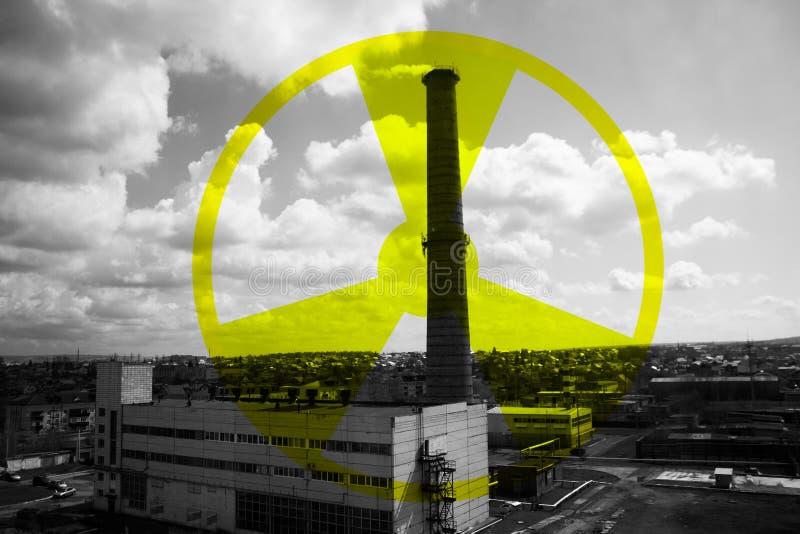 Industrieel district van de stad stock foto's