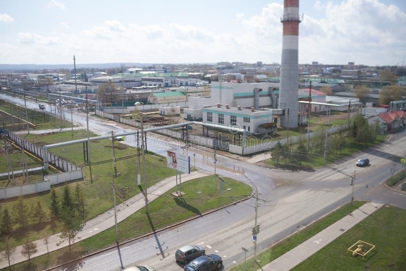 Industrieel district van de stad stock afbeeldingen