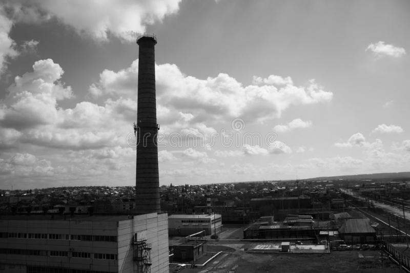 Industrieel district van de stad royalty-vrije stock afbeelding