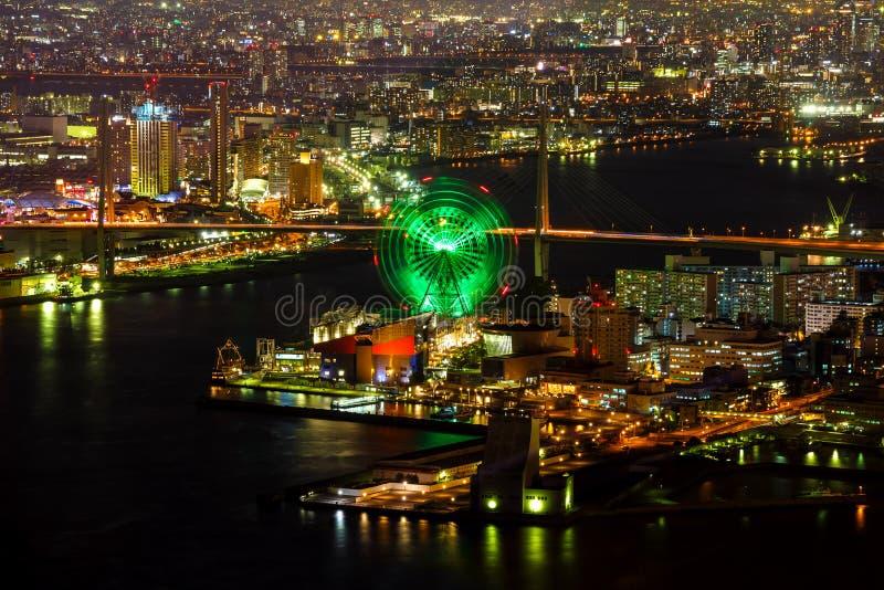 Industrieel District van Osaka Bay royalty-vrije stock fotografie