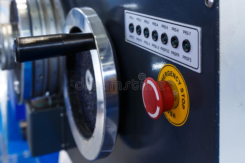 Industrieel draaibankhulpmiddel en deel van, machine stock foto's