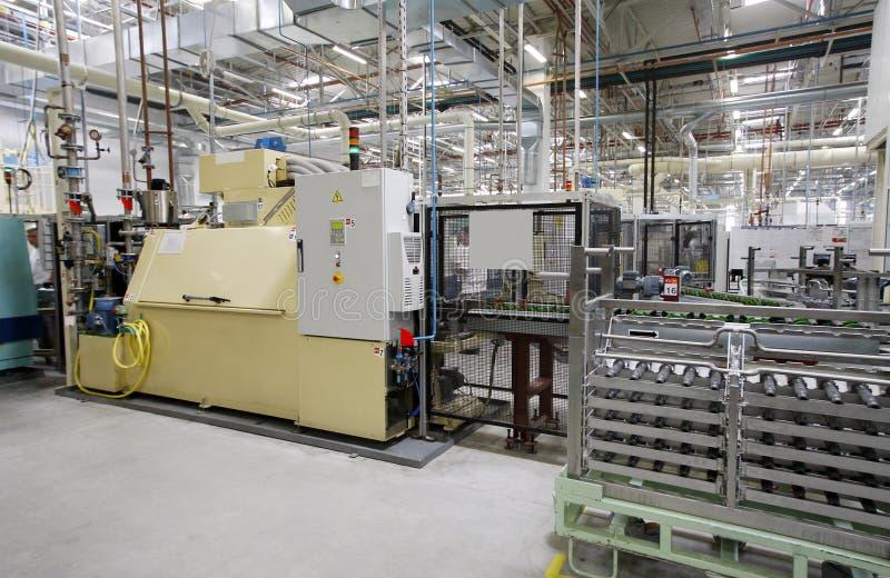 Industrieel fabrieksbinnenland royalty-vrije stock fotografie