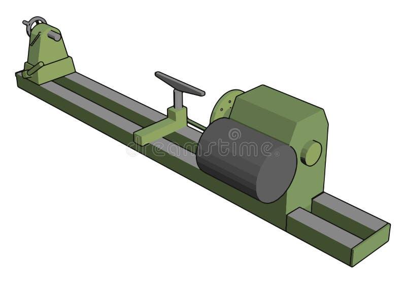 Industrieel groen en grijs lade vectorillustratie royalty-vrije illustratie