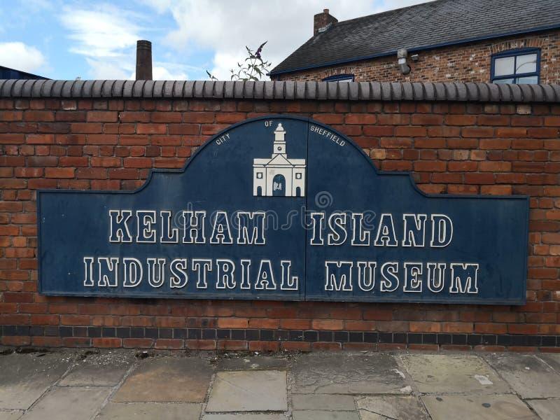 Industrieel het Museumteken van het Kelhameiland royalty-vrije stock afbeeldingen