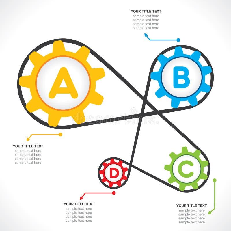 Industrieel informatie-grafiek ontwerp vector illustratie