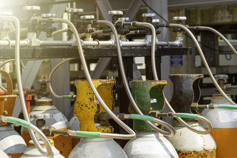 Industrieel licht met explosiebestendige dekking stock fotografie