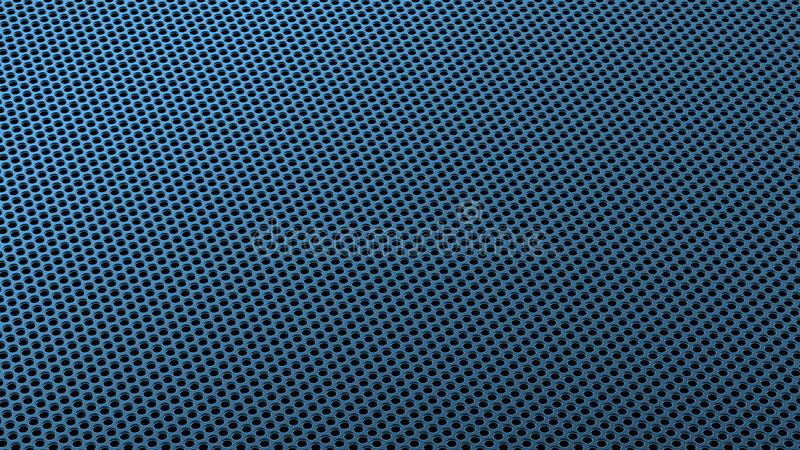 Industrieel Metall-van het de Gatenpatroon van het Staalijzer de Zeef Isometrisch Blauw royalty-vrije illustratie