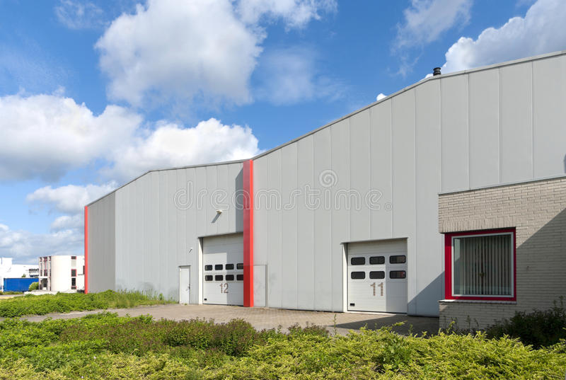 Industrieel pakhuis royalty-vrije stock afbeelding