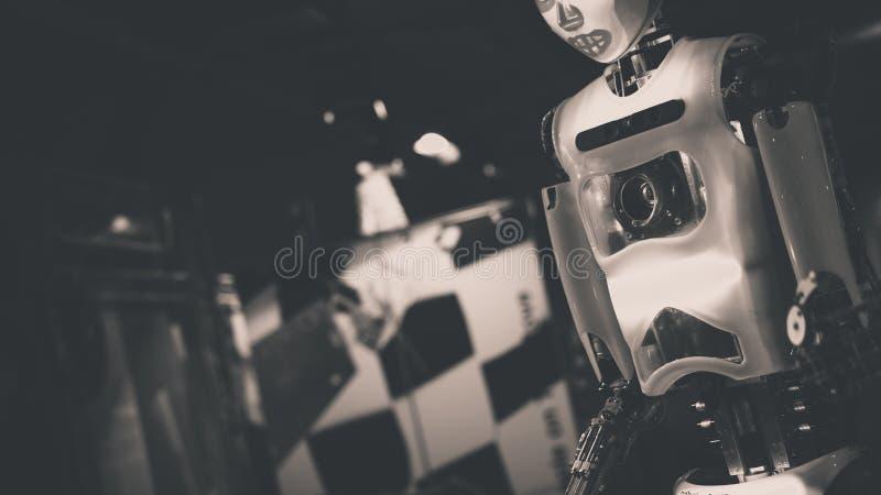 Industrieel Robotica en Wetenschapsapparaat stock afbeelding