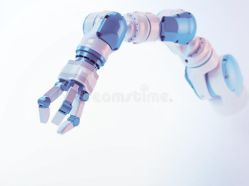 Industrieel robotwapen stock afbeeldingen