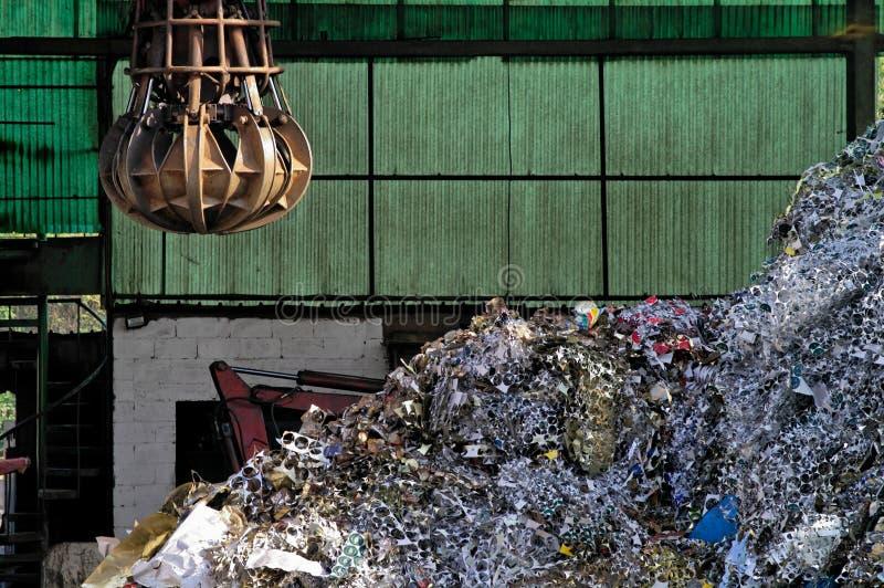 Industrieel schroot stock foto