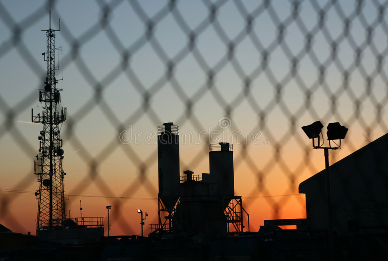 Industrieel Silhouet royalty-vrije stock afbeelding