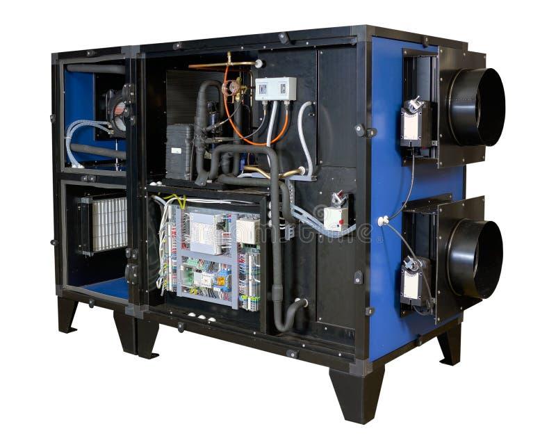 Industrieel ventilatiesysteem stock foto