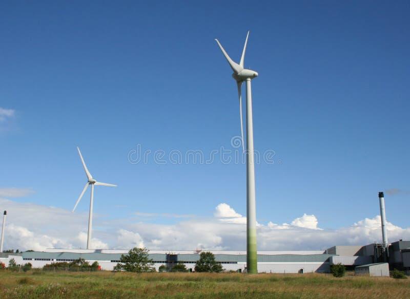 Industrieel windlandbouwbedrijf stock afbeeldingen