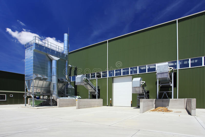 Industriegebäude im Freien stockfotos