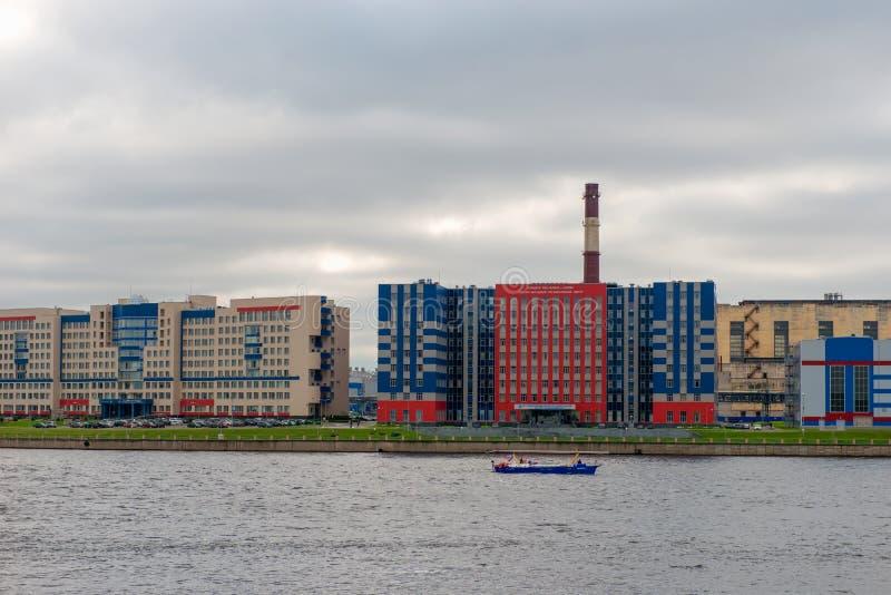 Industriegebäude und Bereich von besonderer Wichtigkeit VKO ` Almaz-Antey` stockbilder