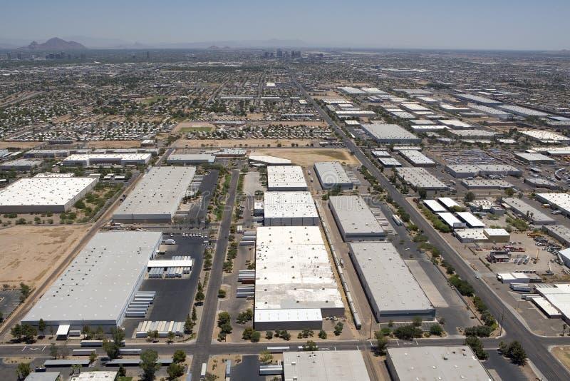 Industriegebäude von oben lizenzfreie stockbilder