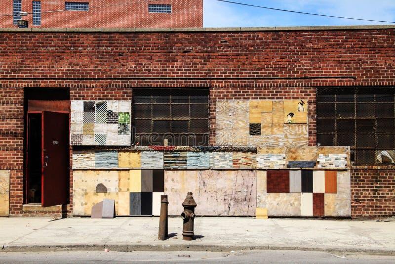 Industriegebäude Williamsburg New York lizenzfreies stockbild