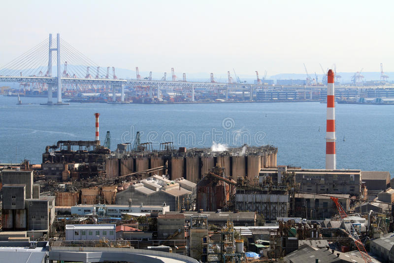 Industriegebiet Keihin lizenzfreie stockfotos