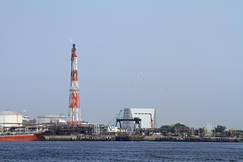 Industriegebiet Keihin stockbilder