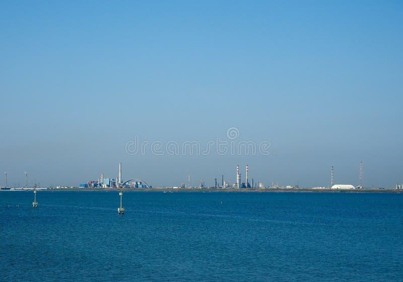 Industriegebiet Marghera in Venedig lizenzfreie stockfotografie