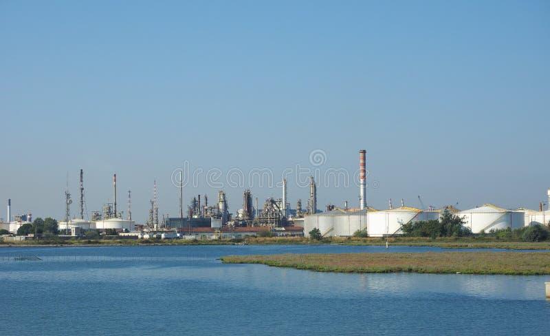 Industriegebiet Marghera in Venedig stockfoto
