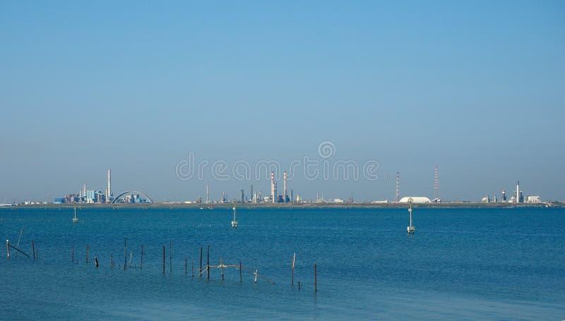 Industriegebiet Marghera in Venedig lizenzfreie stockfotos
