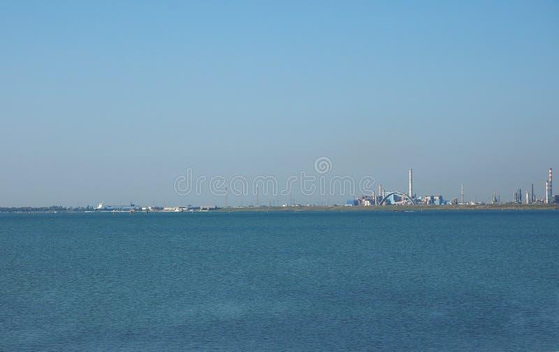 Industriegebiet Marghera in Venedig stockfotos
