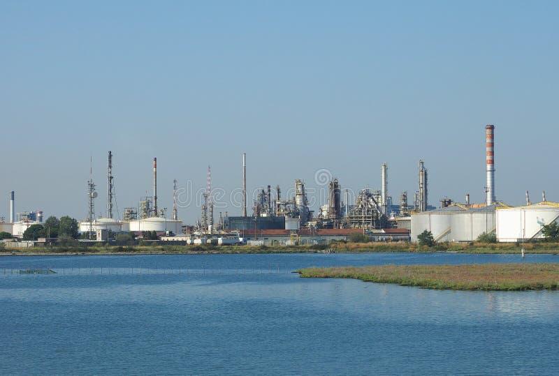 Industriegebiet Marghera in Venedig lizenzfreies stockfoto