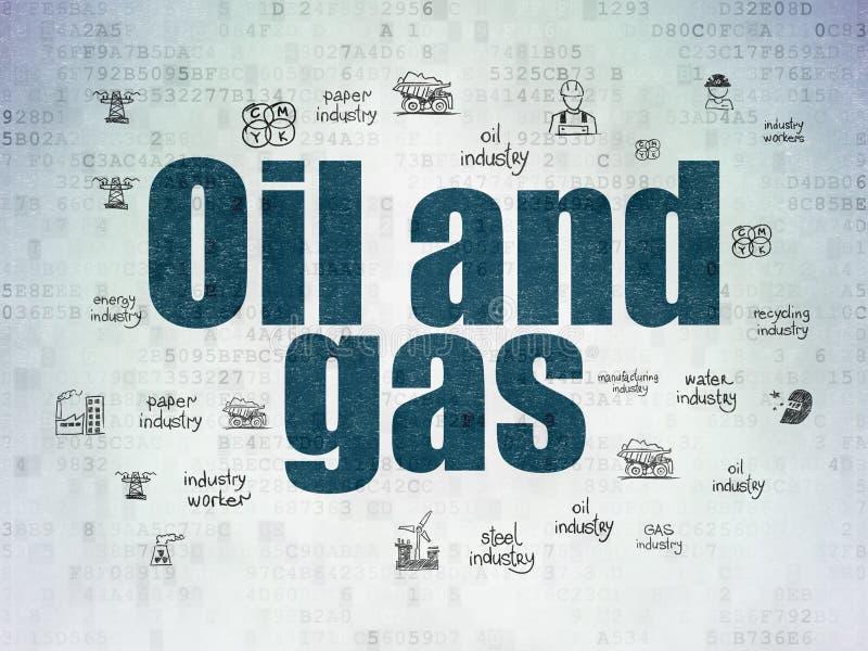 Industriekonzept: Öl und Gas auf Digital-Daten tapezieren Hintergrund vektor abbildung