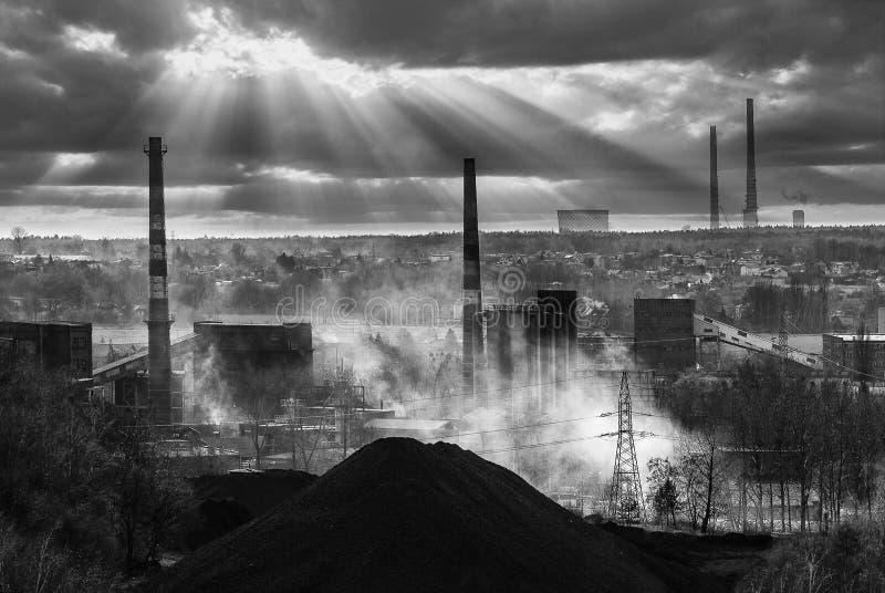 Industriel en Pologne image libre de droits