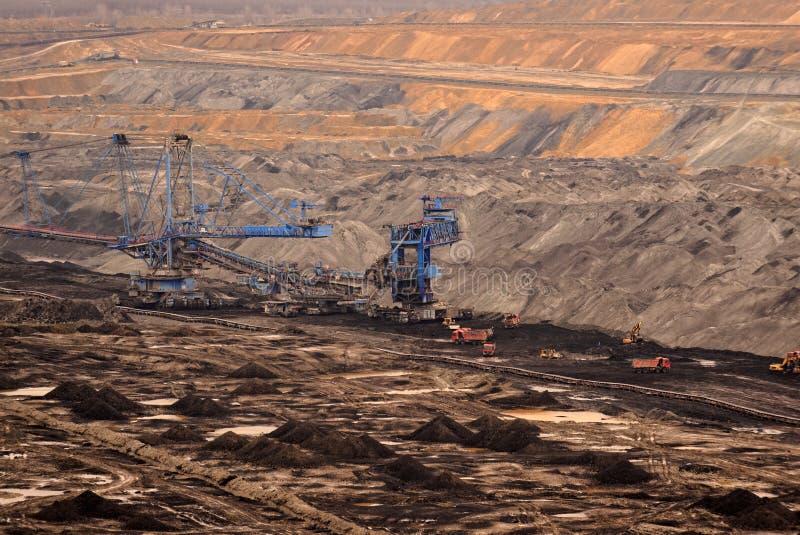 Industrielandschaft eines Arbeitsbergwerkes lizenzfreie stockfotografie