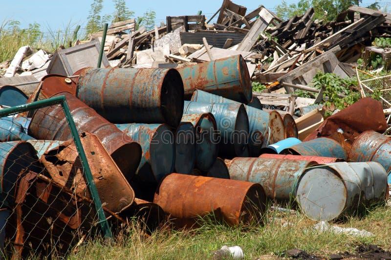 industriell avfalls royaltyfria bilder