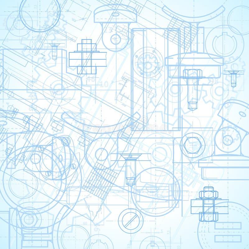 industriell bakgrund royaltyfri illustrationer