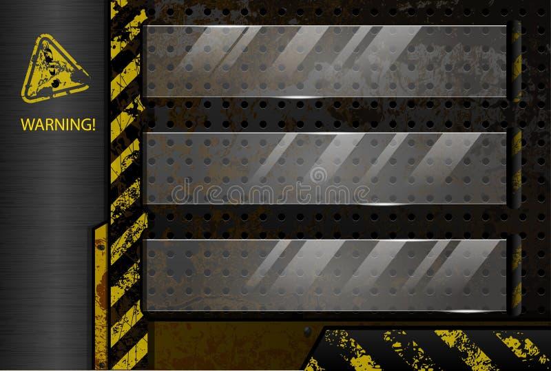 industriell bakgrund stock illustrationer