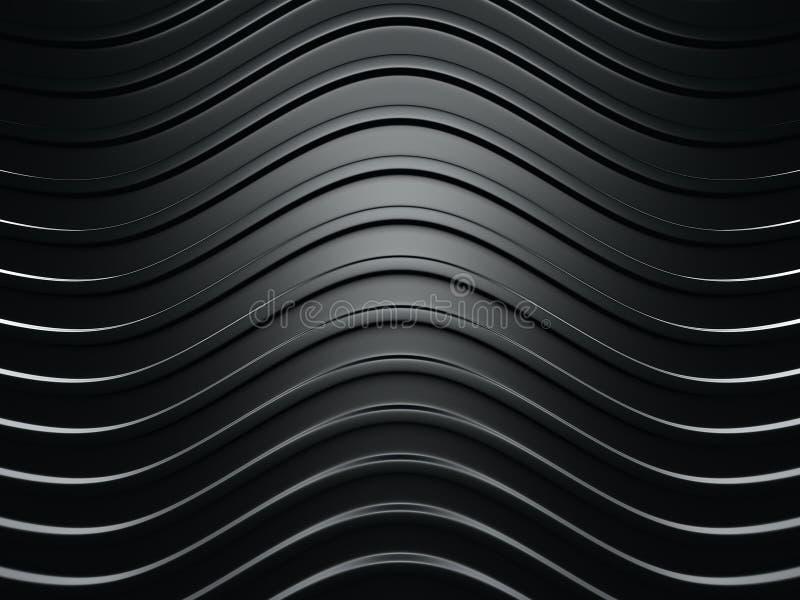 Industriell bakgrund för abstrakt mörkt silverband stock illustrationer