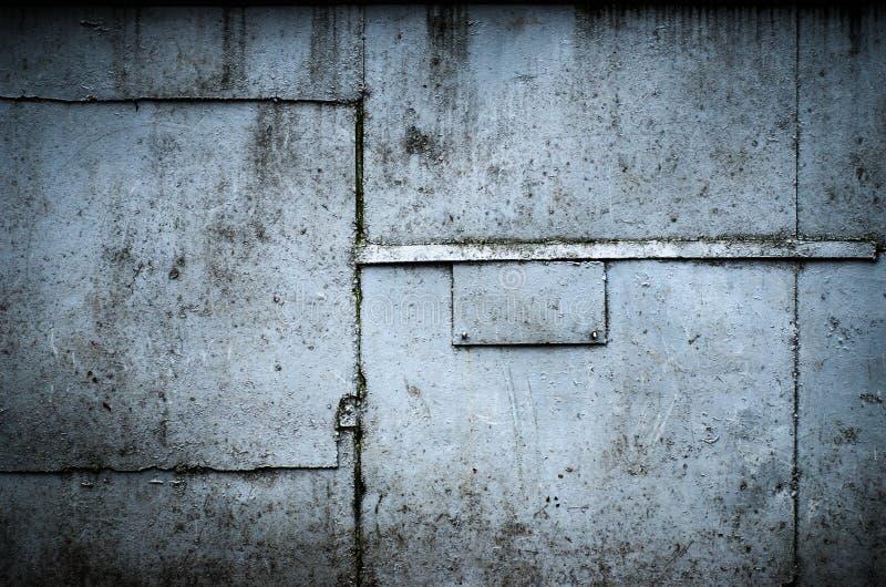 Industriell bakgrund för tappning, fastnitad metalltextur fotografering för bildbyråer
